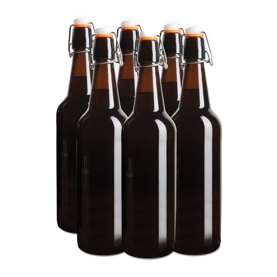 Flip Top Glass Amber bottles