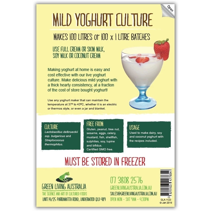 Green Living Mild Yoghurt Culture