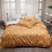 Load image into Gallery viewer, INS Yellow Bananas Stripes Bedding Sets Microfiber Brush Polyester Bedlinens Twin Full Queen King Duvet Cover Set Pillowcases
