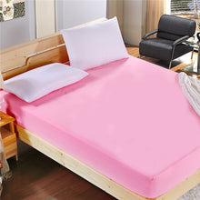 Load image into Gallery viewer, 1pcs 100%Polyester Solid Fitted Sheet Mattress Cover Four Corners With  Elastic Band Bed Sheet44