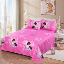 Load image into Gallery viewer, Bed Sheet+2Pcs Pillow Cases 2019 Decor Home  Textile Bedding Coverlet Flat Sheet Flower Bed Cover Bed Sheet Soft Warm Bed sheets