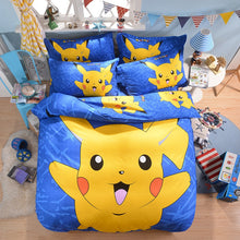 Load image into Gallery viewer, Home Textile 3D Cute Cartoon Pokemon Pikachu Printing Bedding Set  Duvet Cover Set Bed Sheet Bed Linen Bedclothes