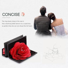 Load image into Gallery viewer, 3D Pop Up Red Rose Flower Ring Box