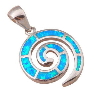Blue Fire Opal 925 Sterling Silver Necklace/Pendants