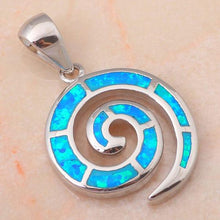 Load image into Gallery viewer, Blue Fire Opal 925 Sterling Silver Necklace/Pendants