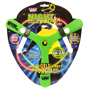 Night Booma LED Light-Up Outdoor Boomerang