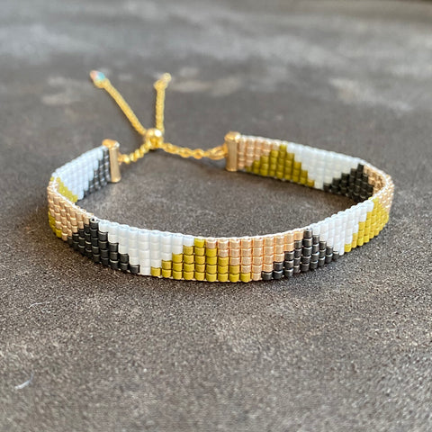 Cicee olive triangles bead bracelet