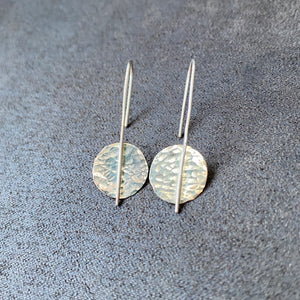 Cicee silver eclipse dangle earrings