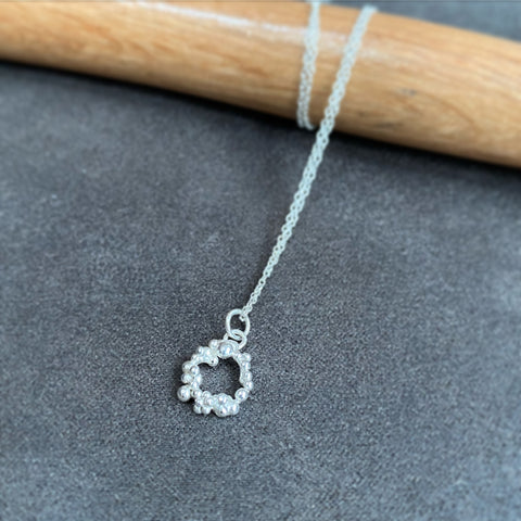 cicee galaxy mini ring eco silver pendant necklace