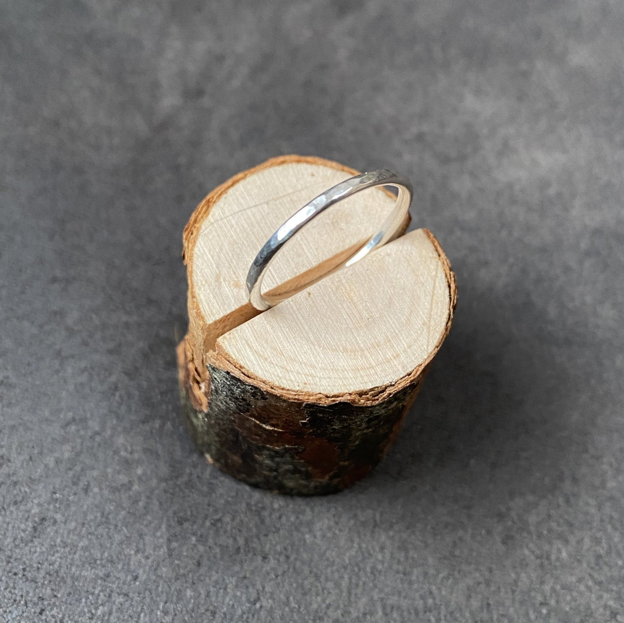 Cicee hammered silver stacking ring