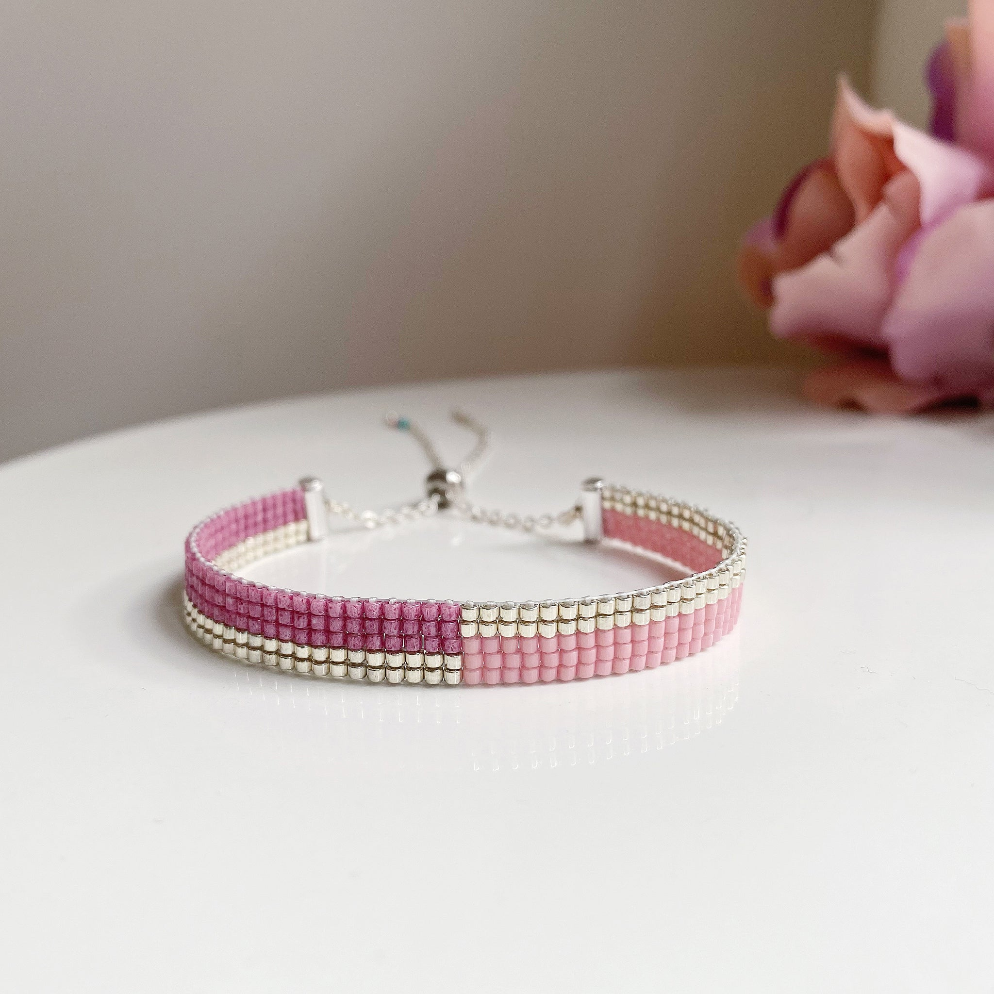 Sweet Romance bead bracelet - available in gold and silver