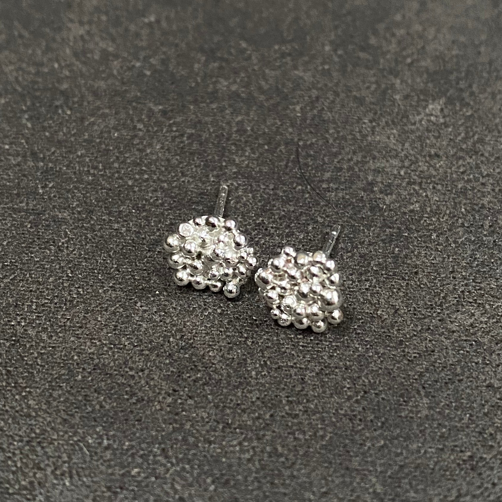Cicee galaxy cluster studs in silver