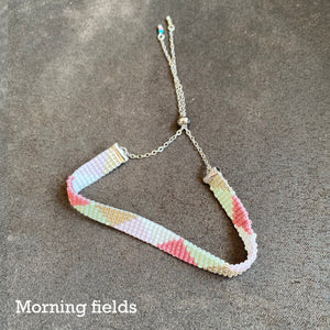 Morning fields woven bead bracelet