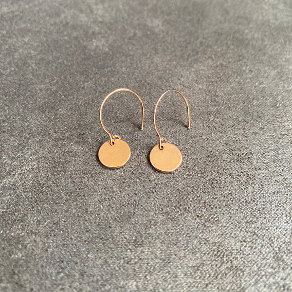 Cicee Creative rose gold plated dot earrings