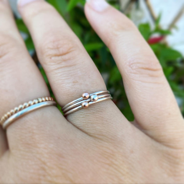 Cicee love strength hope stacking rings