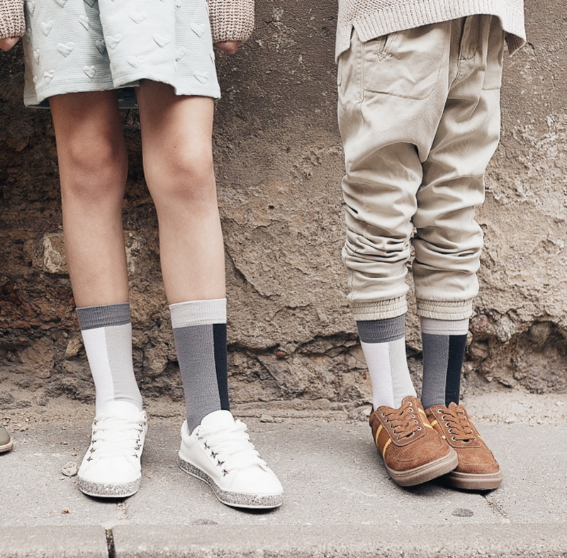 UKAI Sustainable unisex HALF TO HALF socks for kids