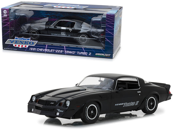 1981 Chevrolet Z28 Yenko Turbo Z Black 1/18 Diecast Model Car by Greenlight