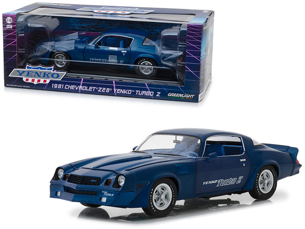 1981 Chevrolet Z28 Yenko Turbo Z Blue 1/18 Diecast Model Car by Greenlight