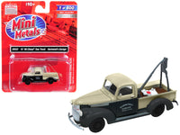 "1941-1946 Chevrolet Tow Truck ""Harmond's Garage"" Black and Cream 1/87 (HO) Scale Model Car by Classic Metal Works"