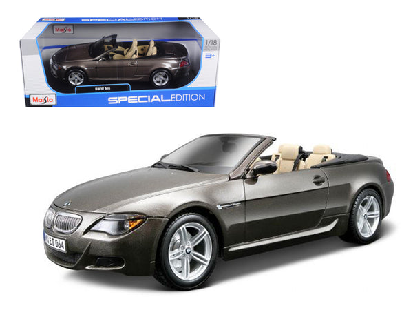 BMW M6 Convertible Bronze 1/18 Diecast Model Car by Maisto
