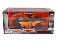 1970 Chevrolet Corvette Harley Davidson Black/Orange 1/24 Diecast Model Car by Maisto