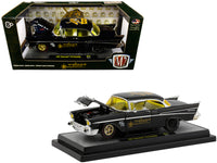 "1957 Chevrolet 210 Hardtop ""Weiand"" Black Limited Edition to 5,880 pieces Worldwide 1/24 Diecast Model Car by M2 Machines"