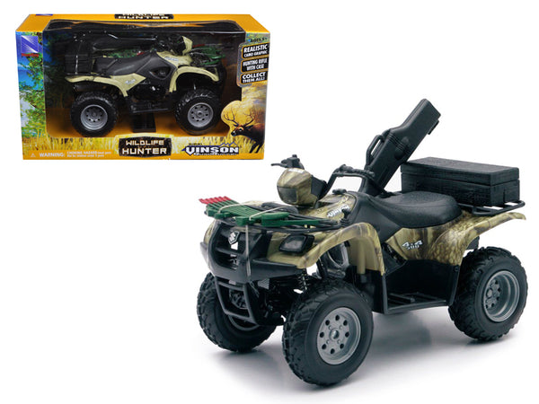 Suzuki Vinson 4x4 500 Quad Runner Green ATV Motorcycle 1/12 Diecast Model by New Ray