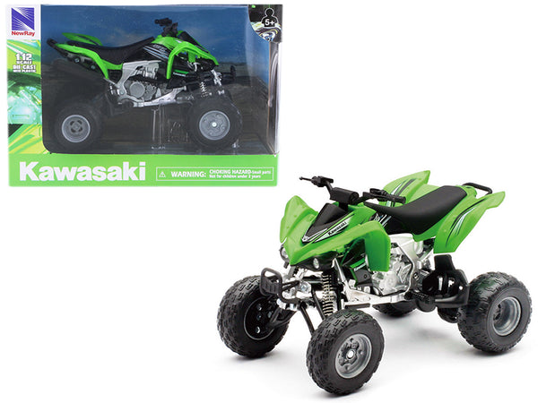 Kawasaki KFX 450R ATV Green 1/12 Motorcycle Model by New Ray