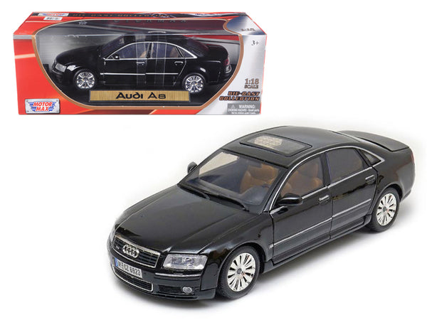 2004 Audi A8 Black 1/18 Diecas Model Car by Motormax