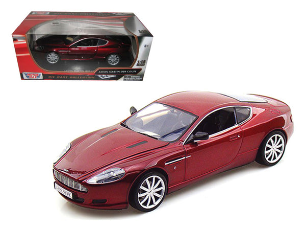 Aston Martin DB9 Coupe Burgundy 1/18 Diecast Model Car by Motormax