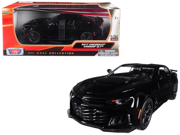 2017 Chevrolet Camaro ZL1 Black 1/24 Diecast Model Car by Motormax