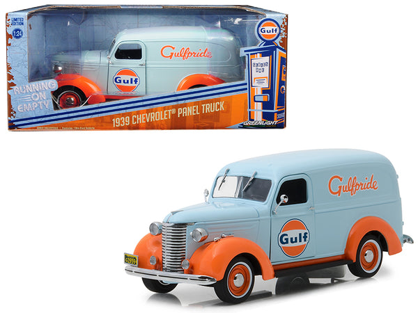 "1939 Chevrolet Panel Truck ""Gulf Oil"" (""Gulfpride"") Light Blue Running on Empty Series 1/24 Diecast Model Car by Greenlight"