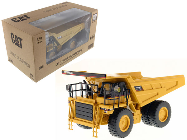 "Caterpillar 777D Off Highway Dump Truck with Operator ""Core Classics Series"" 1/50 Diecast Model by Diecast Masters"