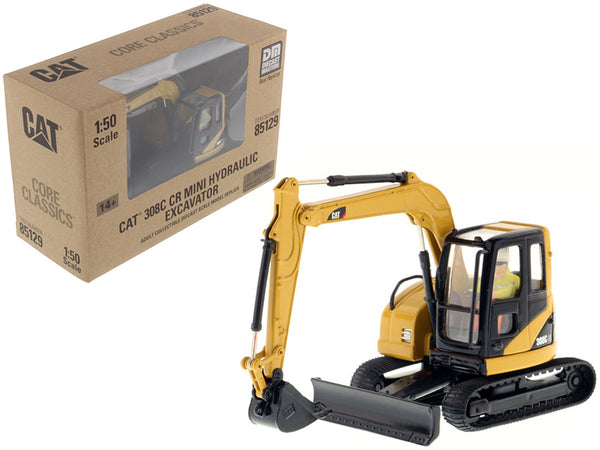 "Caterpillar 308C CR Excavator with Operator ""Core Classics Series"" 1/50 Diecast Model by Diecast Masters"