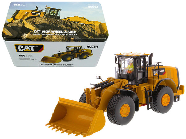 "Caterpillar 980M Wheel Loader with Rock Bucket and Operator ""High Line Series"" 1/50 Diecast Model by Diecast Masters"