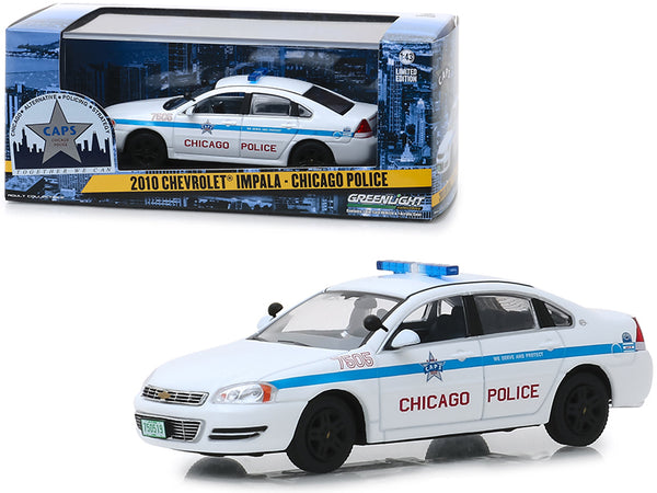 "2010 Chevrolet Impala ""Chicago Police"" 1/43 Diecast Model Car by Greenlight"