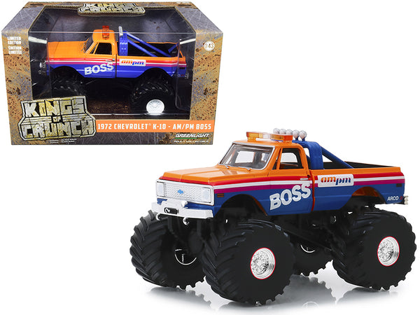 "1972 Chevrolet K-10 Monster Truck with 66-Inch Tires ""AM/PM Boss"" 1/43 Diecast Model Car by Greenlight"