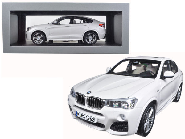 BMW X4 (F26) Mineral White 1/18 Diecast Model Car by Paragon