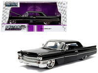 1963 Cadillac Black 1/24 Diecast Model Car by Jada