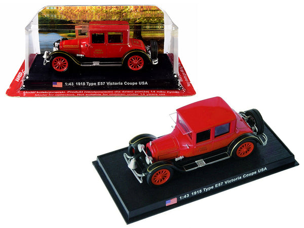 "1918 Cadillac Type E57 Victoria Coupe ""Fire Chief"" 1/43 Diecast Model Car by Amercom"