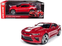 2017 Chevrolet Camaro Yenko Coupe Red with White Stripes Limited Edition to 1002 pieces Worldwide 1/18 Diecast Model Car by Autoworld
