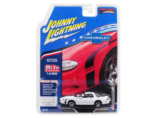 "2002 Chevrolet Camaro ZL1 427 White ""Muscle Cars USA"" Limited Edition to 2,016 pieces Worldwide 1/64 Diecast Model Car by Johnny Lightning"