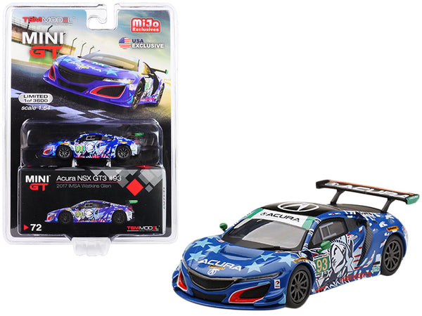 "Acura NSX GT3 #93 ""Statue of Liberty"" 2017 IMSA Watkins Glen Limited Edition to 3,600 pieces Worldwide 1/64 Diecast Model Car by True Scale Miniatures"