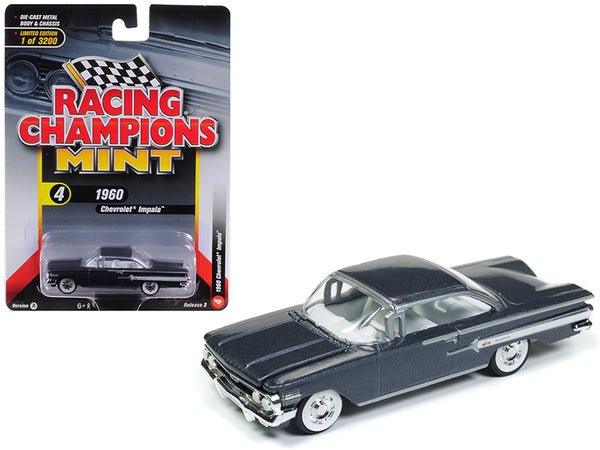 1960 Chevrolet Impala Shadow Gray Metallic Limited Edition to 3,200 pieces Worldwide 1/64 Diecast Model Car by Racing Champions