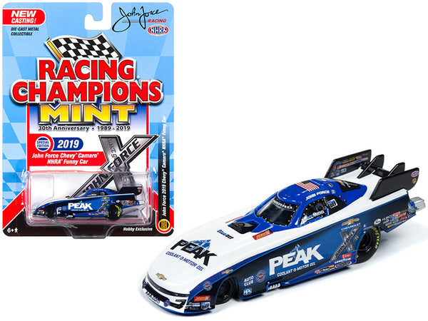 "2019 Chevrolet Camaro NHRA Funny Car ""Peak"" John Force ""John Force Racing"" ""Racing Champions 30th Anniversary"" (1989-2019) 1/64 Diecast Model Car by Racing Champions"