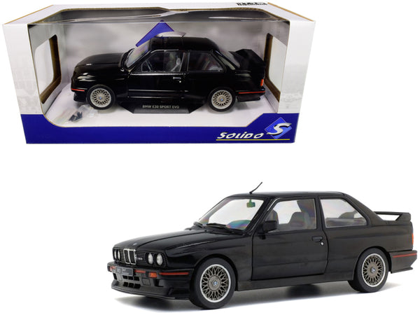 1990 BMW E30 Sport Evo Black 1/18 Diecast Model Car by Solido