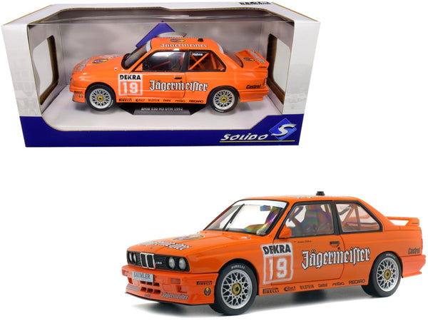 "BMW E30 M3 #19 Armin Hahne ""Jagermaester"" The Deutsche Tourenwagen Meisterschaft (DTM) (1992) 1/18 Diecast Model Car by Solido"