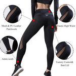 Leggins sportivi donna: push up nero a vita alta