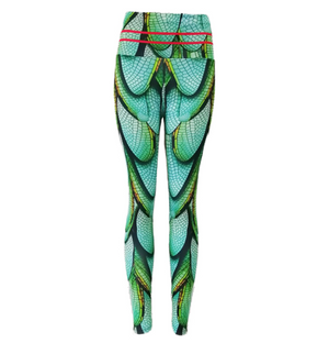 Leggins snellenti effetto push up fantasia Verde
