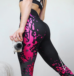 Leggins donna con fantasia graffiti